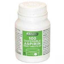 Generics : Aspirin 75mg Dispersible Tablets 100