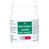 Aspirin Dispersible 300mg tabl 32