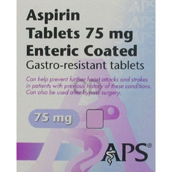 Generics : Aspirin EC 75 mg Tablets 56