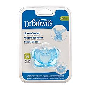 Dr Brown : Dr Brown Silicone Soother blue- One Piece Soother.