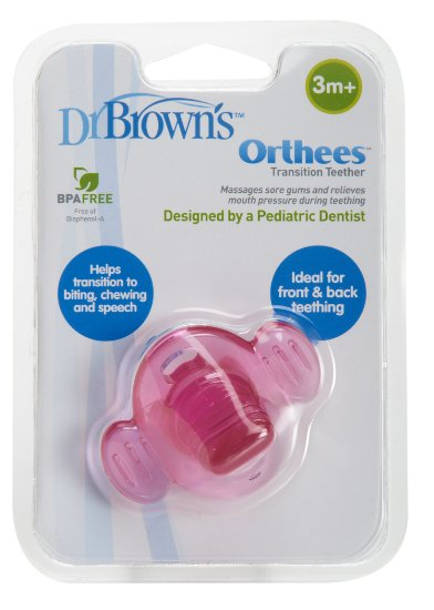 Dr Brown : Dr Brown's Orthees Teether (Pink)