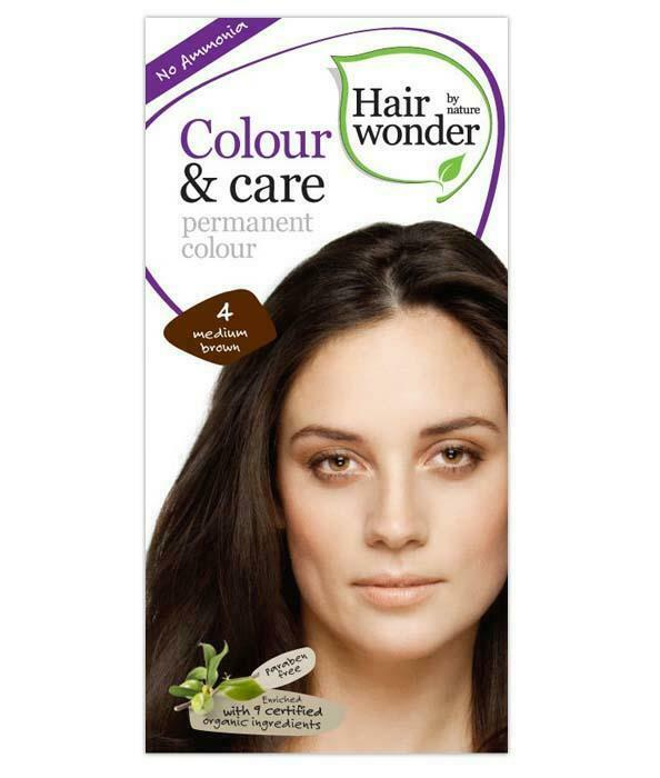 HairWonder Colour & Care Medium Brown 4-100ML
