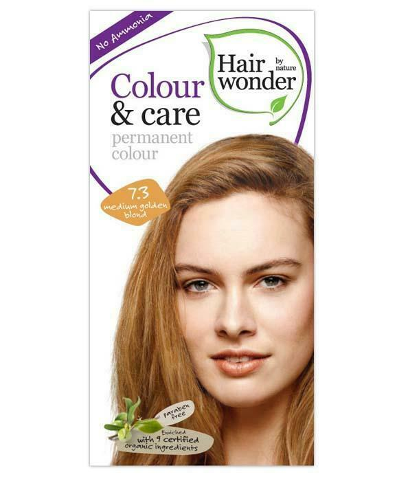 HairWonder Colour & Care Medium Golden Blonde 7.3-