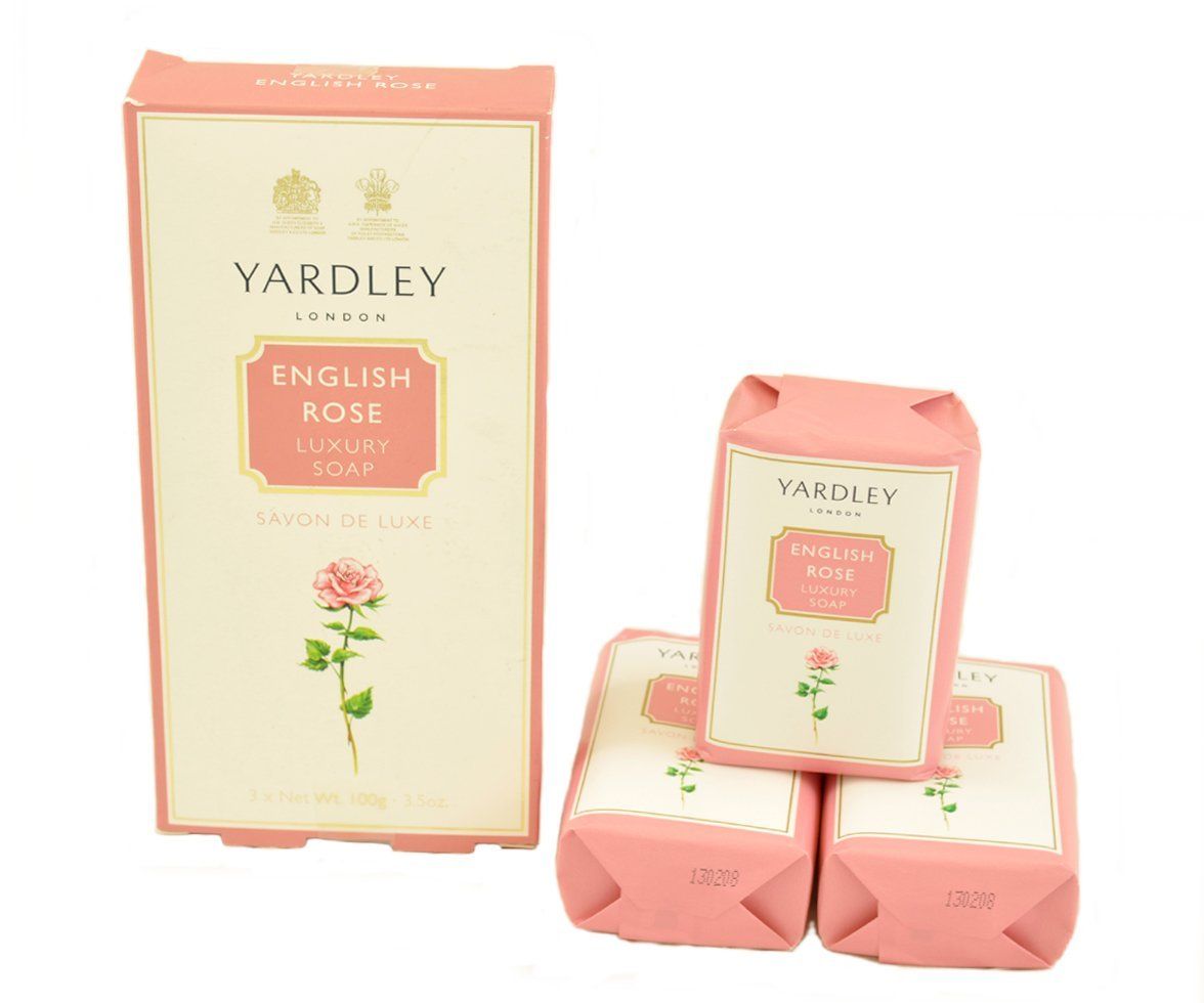 Yardley English Rose Soap Set Trio (3 x 100g)