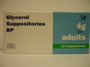 Glycerol/Glycerin Suppositories (Adults) 12