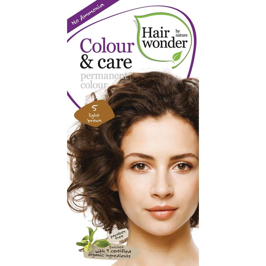 Hairwonder Colour & Care Light Brown 5 – 100ml