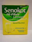 Senokot High Fibre Lemon Sachet 10