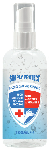 other : SIMPLY PROTECT ALCOHOL CLEANSING HAND GEL PUMP SPRAY 100ML