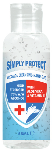 other : SIMPLY PROTECT ALCOHOL CLEANSING HAND GEL 58ML