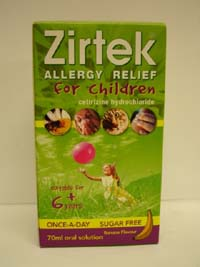 Zirtek Allergy Solution 70ml
